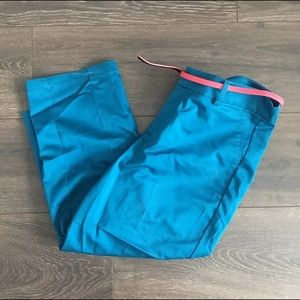 Dockers Womens Colored Capris With Belt Size 8